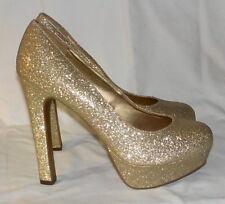 Mossimo heels sz 8.5 M glitter gold platform heels clubwear
