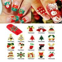DIY Newest 10pcs 3D Christmas Design Alloy Jewelry Nail Art Tips  Decorations