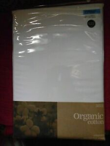 M&S Double Bed Flat Sheet organic cotton white PERCALE EASYCARE MARKS & SPENCER