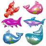 Cute Sea Fish Whale Shark Foil Balloons For Birthday Party Decor Kids Toys Gifts
