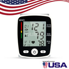 Digital LCD Wrist Blood Pressure Monitor Health Care Automatic Blood Pressure US