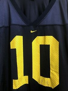 NIKE UM MICHIGAN WOLVERINES #10 TEAM NIKE NCAA JERSEY ADULT XL