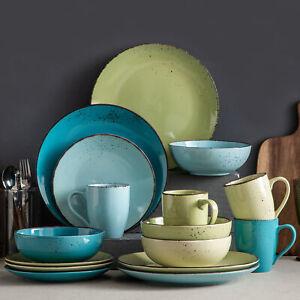 vancasso Navia 16-Piece Stoneware Dinnerware Set Multi-color Kitchen Dinner Dish