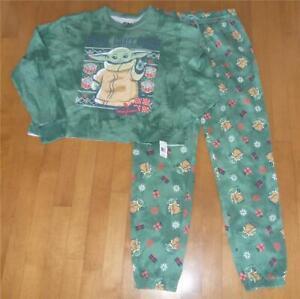 "Womens BABY YODA ""Protect Unwrap Christmas Pajamas Sz S XL The Mandalorian  NWT"
