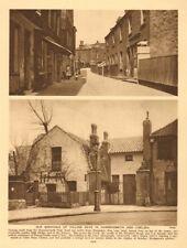 Hampshire Hog Lane, Hammersmith. Glebe Place, Chelsea 1926 old vintage print