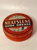 Vintage Neatslene Shoe Grease Tin Advertising Decor Piece Make offer!