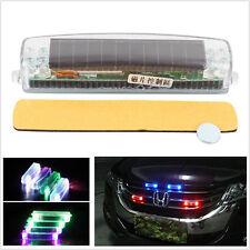 Solar Wireless LED  Flashing Strobe Warning Fog Lamp Car SUV Van Grill
