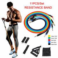 11Pcs/Set  Resistance Bands 10-30LB Workout Exercise Yoga Crossfit Fitness Tubes