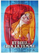 Affiche 120x160cm ET DIEU... CRÉA LA FEMME 1956 Vadim - Brigitte Bardot R1964