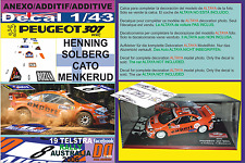 ANEXO DECAL 1/43 PEUGEOT 307 WRC H.SOLBERG R.AUSTRALIA 2006 DnF (01)