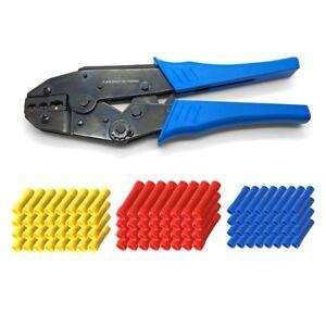 Crimpzange Stossverbinder Crimp Zange Handzange Rot Blau Gelb Stoß Verbinder Set