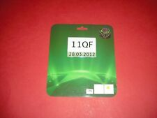 2011/12 CHAMPIONS LEAGUE QF AC MILAN V BARCELONA OFFICIAL MEDIA PASS TICKET 2012