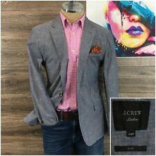J Crew Ludlow Slim Mens Sport Coat Blazer 2 Button Cotton Linen Jacket Size 42R