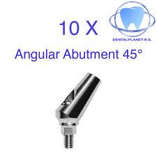 10 Angular 45° Titanium Abutment hex Dental Implant Lab Prosthetic.