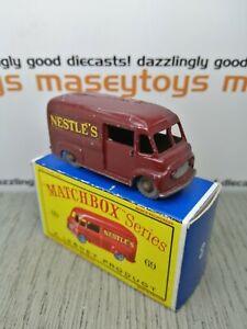 MATCHBOX Lesney No.69a Commer Nestlé Van 1959 original Vintage Diecast