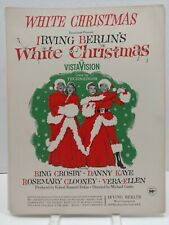 White Christmas Bing Crosby danny Kaye Piano Sheet Music Film Soundtrack F2R