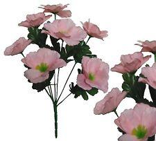 Lot of 168 Pink Poly Silk Flower Anemone Wedding Home Decor Craft Filler