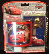 Disney Nite Lite and WallPlate The World of Cars Pixar  New in Package