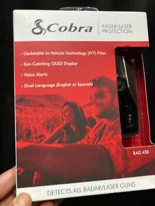 Cobra RAD450 Laser Detector Power Cord Adjustable Sensitivity IVT Filter Control