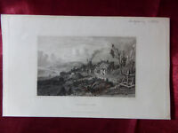 Antique engraving VIEW of VENTNOR COVE, ISLE OF WIGHT c1830 Veduta art print