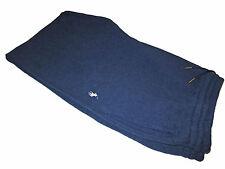 Polo Ralph Lauren Blue White Luxury Fleece Gym Ribbed Lounge Sweat Pants XXL 2XL