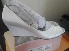 Dyeable D'Orsay Wedges Crystal Accents -White -Women's Shoe -Wedding -Size 8 $90