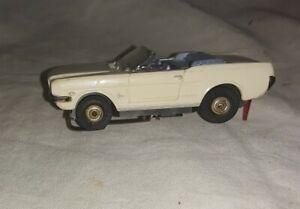 Aroura Model Motoring Thunderjet. Mustange Convertible. White w/ Blue Interior.