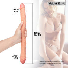 SEX-Extra-Long-Double-Ended-Head-Dildo-Anal-Toy-Male-Female-Lesbian-Dong-Penis