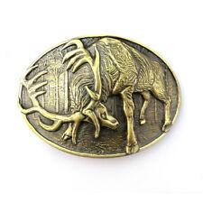 "Trophy handmade belt buckle ""Deer hunting""; Deer hunt brass belt buckle"