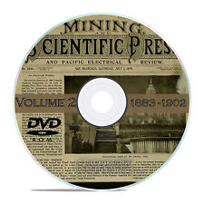 Vintage Mining and Scientific Press, 1883 - 1902, 1000 Back Issues Vol 2 DVD V34
