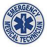 "Emergency Medical Technician EMT 4"" Round Reflective Emergency Decal Sticker"