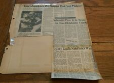 Vintage Football Clippings College Nebraska Cornhuskers Cotton Bowl Texas lot