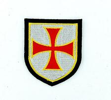 Patch ecusson brode thermocollant templier blason croisade airsoft chevalier