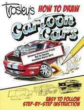 Trosley's How to Draw Cartoon Cars Book~Step-by-Step Instruction~All Types~NEW
