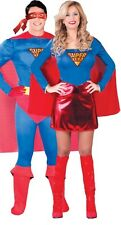 Couples Ladies AND Mens Superhero Comic Book Film Fancy Dress Costumes Outfits