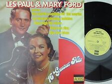 Les Paul & Mary Ford OZ Reissue LP 16 greatest hits NM Jazz Vocal Pop