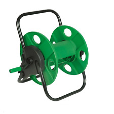 More details for new 60m portable garden hose reel water pipe free standing wall mountable