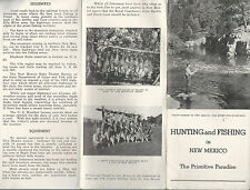 Hunting & Fishing in New Mexico Vintage Pamphlet Black & White Photos
