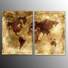 Vintage world map decorative posters prints ebay framed canvas print home decor vintage world map canvas painting wall art 2pcs gumiabroncs Gallery