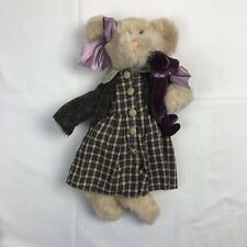 "The Bearington Collection Chelsae #11455 Plush 14"" holding her own tedy bear"