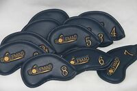 10 Golf Mad Black PU Iron Covers Golf Headcovers for ping Titleist Cobra ONLY