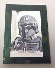 Topps Chrome Star Wars Perspectives 2015 - Boba Fett Sketch by Kris Penix