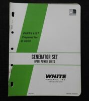 1976 WHITE HERCULES MOTORS D 4800 ENGINE GENERATOR OPEN POWER UNITS PARTS MANUAL