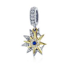 Sun Meet Moon Charm 100% 925 Sterling Silver Pandora