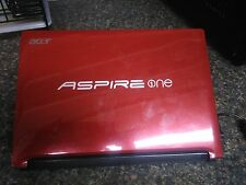 """Acer Aspire One D255 AOD255 10.1"""" Notebook/ Mini Laptop- Red"""