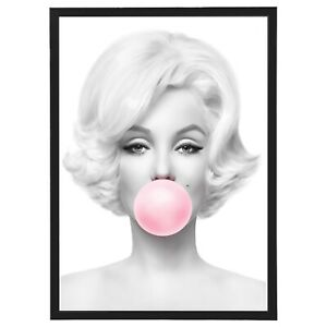 Designer Fashion Marilyn Bubble Luxe Framed Print