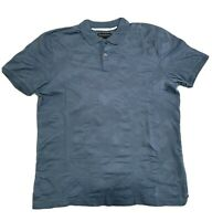 Mens Banana Republic Fitted Polo Shirt, Short Sleeve, Size M, Solid Blue