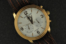 NICE MENS ROSE GOLD STUHRLING MERCURY MECHANICAL CHRONOGRAPH MSRP $1595