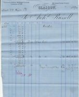 Arch.d Russell 1894 Great Clyde St Glasgow Barncluith Colliery Invoice Ref 40904