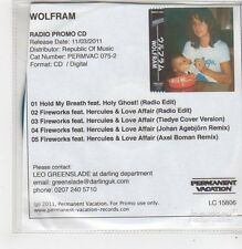 (FF692) Wolfram, Hold My Breath ft Holy Ghost! - 2011 DJ CD